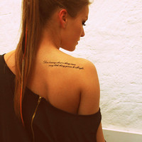 Fake Tattoos - Scandinavian temporary tattoos - Don&#x27;t worry about a thing...