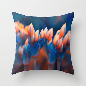 Floral abstract(4). Throw Pillow by Mary Berg