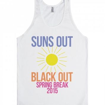 Suns Out Black Out-Unisex White Tank