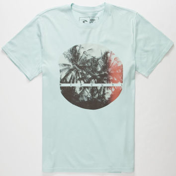 Rip Curl Tropical Vortex Mens T-Shirt Light Blue  In Sizes