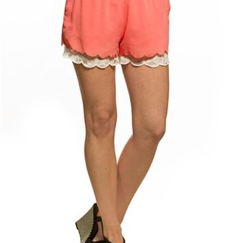 Mine Lace Hem Shorts