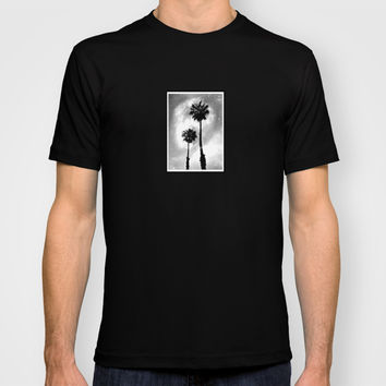 Palm Tree Galaxy T-shirt by Derek Delacroix