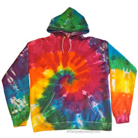 Tie Dye Sweatshirt/ Adult Medium/ Classic Rainbow Spiral Hoodie