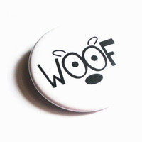 Dog Magnets Animals Woof Cute Cartoon Black White Refrigerator