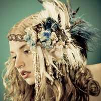 Kat Swank Custom Headdress Headband Heirloom quality by liaison