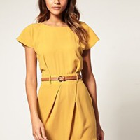 ASOS | ASOS Mini Tulip Dress with Flute Sleeves at ASOS