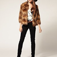 River Island | River Island Long Fur Jacket at ASOS