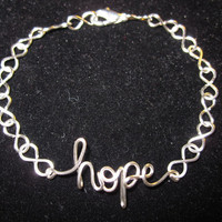 Silver Hope Infinity Bracelet