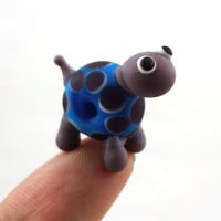 Purple and Blue Turtle Lampworked Glass Figurine by MercuryGlass
