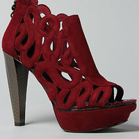 The Bernadete Shoe in Raspberry Jam Suede