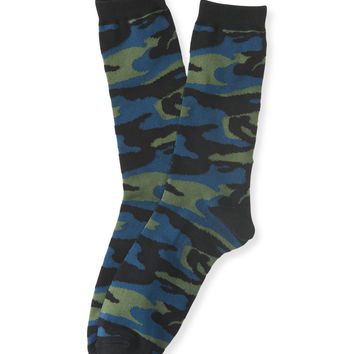 Aeropostale  Camouflage Crew Socks - Black, One