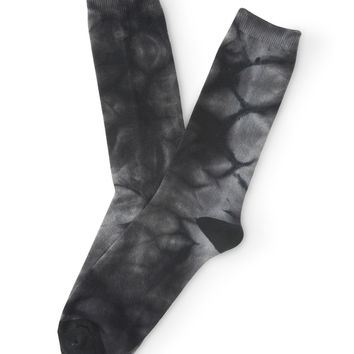 Aeropostale  Tie-Dye Crew Socks - Black, One