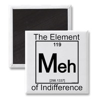 Element MEH Fridge Magnet from Zazzle.com