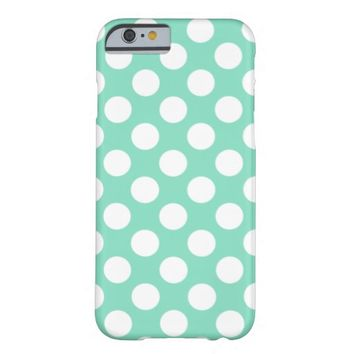 Mint White Polka Dots - iPhone 6 Case