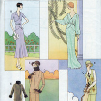 Doll Fashion Pattern - Vogue Collection - Circa 1920's, 30's - 11.5 inch barbie type doll.