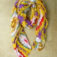 Colorful Chrysanthemum Scarf [2394] - $18.40 : Vintage Inspired Clothing &amp; Affordable Fall Frocks, deloom | Modern. Vintage. Crafted.