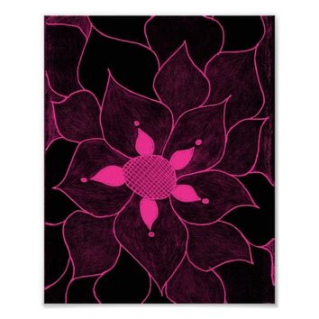 Flower Drawing Poster