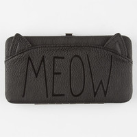 Meow Hinged Wallet Black One Size For Women 25612410001