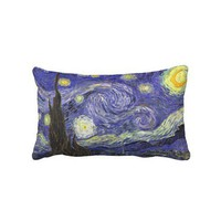 Van Gogh Starry Night, Vintage Post Impressionism Pillow from Zazzle.com