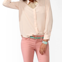 Stitched Down Placket Blouse