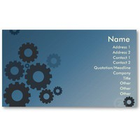 Blue Cogs - Business Business Card Template from Zazzle.com