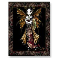 """Naomi"" Oriental Fairy Postcard from Zazzle.com"