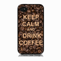 IPHONE 5 graphic design case, keep calm and drink coffee also available in Iphone 4, HTC and Samsung Galaxy III