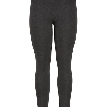 The Skinny Knit Pant With High Waist In Charcoal - Charcoal