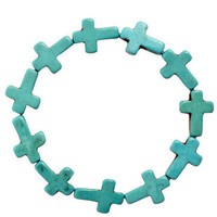GYPSY WARRIOR - Turquoise Cross Bracelet