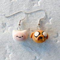 Finn and Jake (Adventure Time) Earrings :D