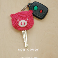 Piggy Key Cover Crochet PATTERN, SY.. on Luulla