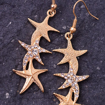 Dangling Starfish Earrings