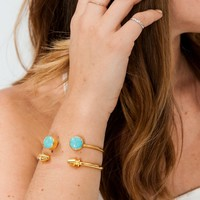 Skinny Duet Cuff ~ Turquoise
