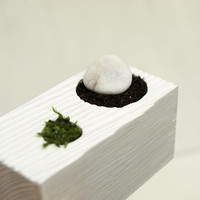 Tabletop Zen Garden white wooden planter by KarolinfelixDream