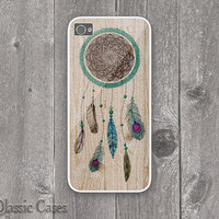 iPhone 5 Hard Case Dreamcatcher Wood print Iphone 5 Cover