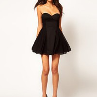ASOS Strapless Skater Dress with Sweetheart neckline at asos.com