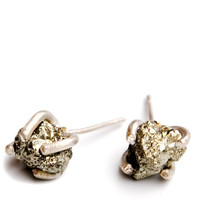 Little Pyrite Prong Earrings | LEIF