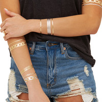 Metallic Multi Temporary Jewelry Tattoo Pack 4