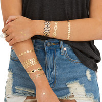 Metallic Multi Temporary Jewelry Tattoo Pack 3