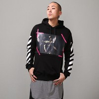 Mens Caravaggio Printed Long Sleeve Hoodie at Fabrixquare