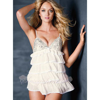 White Lace Low Cut Babydoll Sexy Costumes [CQ20120725] - £23.99 :
