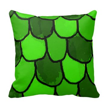 Green Scales Pillow