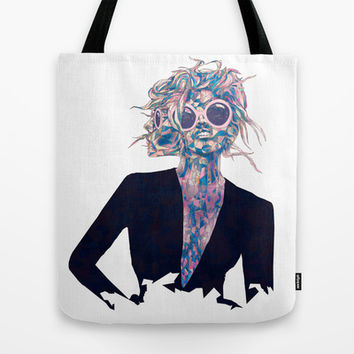 Pastel Light Four Eyes Tote Bag by Ben Geiger