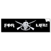 raiders, FOR, LIFE! Bumper Sticker from Zazzle.com