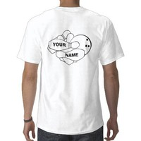 BOWLING (CUSTOM BACK) T SHIRTS from Zazzle.com