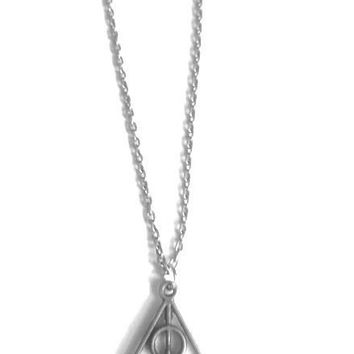 Harry Potter Deathly Hallows Necklace, Harry Potter Necklace, Harry Potter Gifts, Harry Potter Jewelry, Harry Potter Movies