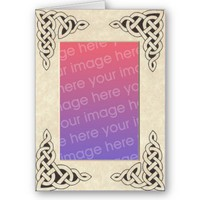 Celtic Lace Frame card 2 from Zazzle.com