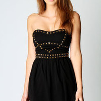 Natasha Stud Detail Bandeau Dress