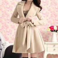 Sweet Faux Mink Fur Trench Coat/Dress