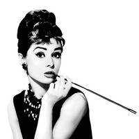 Audrey Hepburn illustration Poster Print black and white, breakfast at tiffany's, tiffany, art, modern , pop art, home decor, framed art